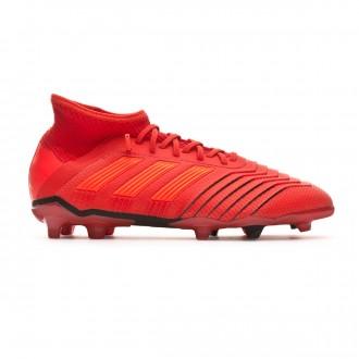 Chaussure de foot adidas Predator 19.1 FG enfant Active red-Solar red-Core black