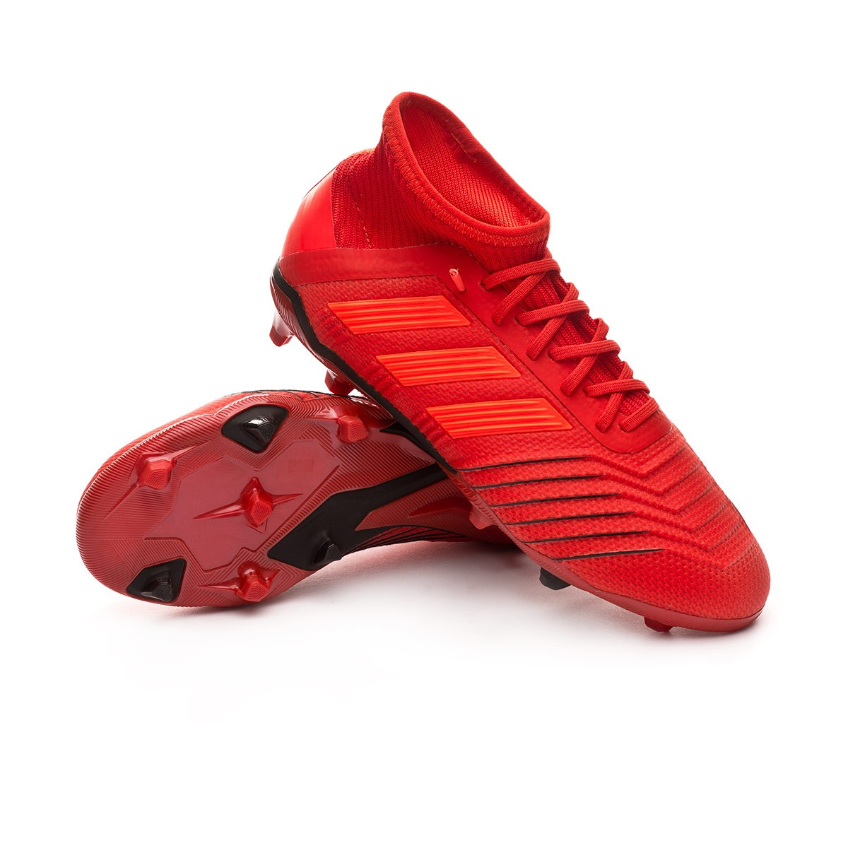 Brutal seta Larry Belmont  Football Boots adidas Kids Predator 19.1 FG Active red-Solar red-Core black  - Football store Fútbol Emotion