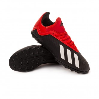 Zapatilla  adidas X Tango 18.3 Turf Niño Core black-Off white-Active red