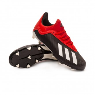 Boot  adidas Kids X 18.3 FG  Core black-Off white-Grey four
