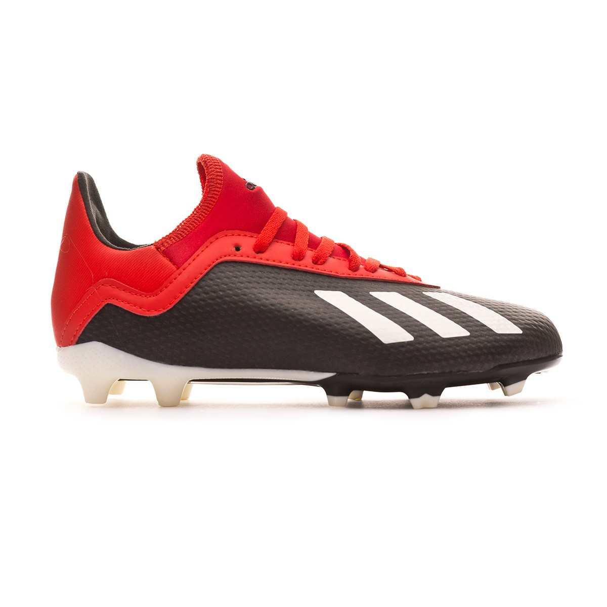 0dc3f976b Football Boots adidas Kids X 18.3 FG Core black-Off white-Grey four - Football  store Fútbol Emotion