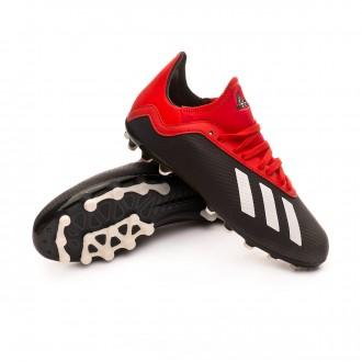 Boot  adidas Kids X 18.3 AG  Core black-Off white-Grey four