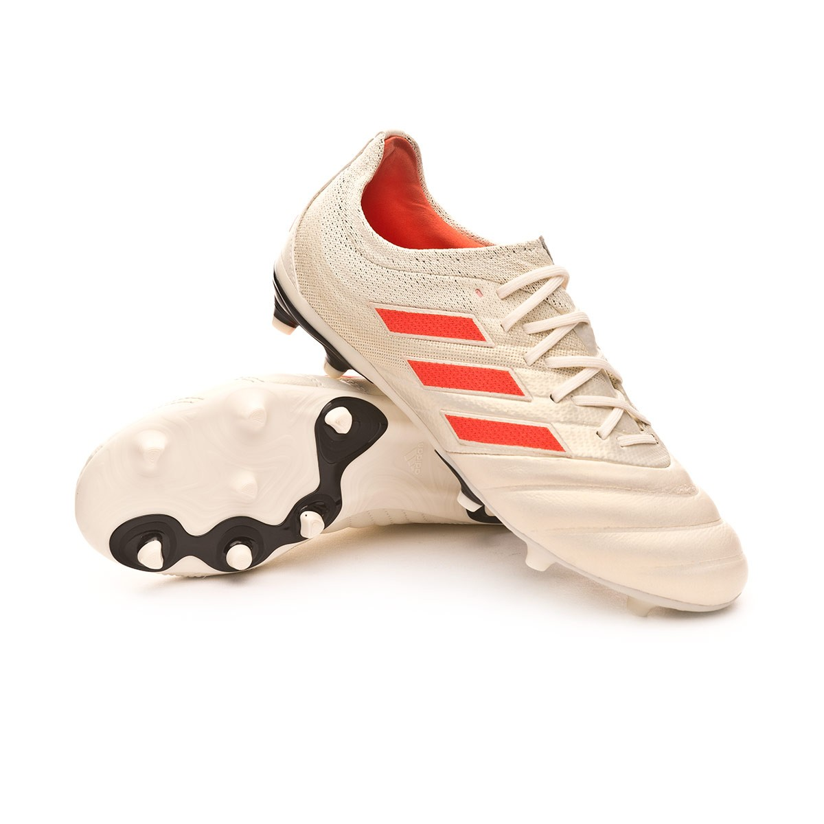 671392697 Football Boots adidas Kids Copa 19.1 FG Off white-Solar red-Core black -  Football store Fútbol Emotion