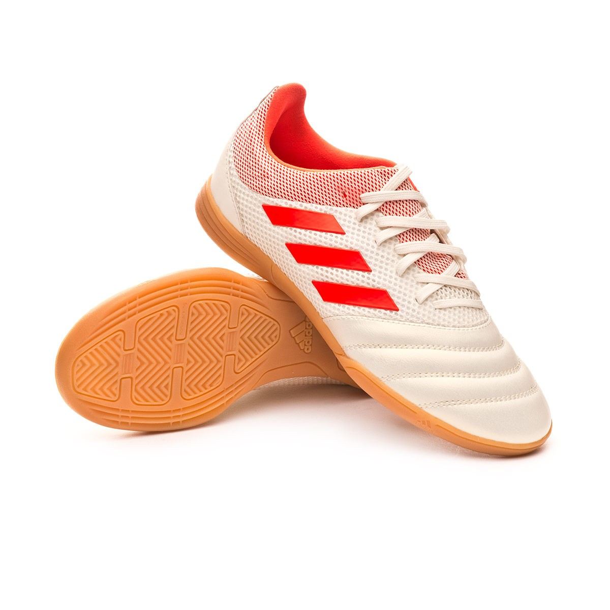 ad903764271 adidas Kids Copa 19.3 IN Sala Futsal Boot. Off white-Solar red-Core black  ...