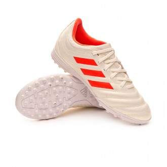 Football Boot  adidas Kids Copa 19.3 Turf  Off white-Solar red-White