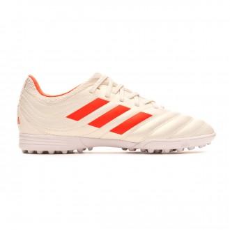 Tenis  adidas Copa Tango 19.3 Turf Niño Off white-Solar red-White