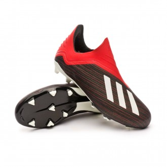 Boot  adidas Kids X 18+ FG  Core black-White-Active red