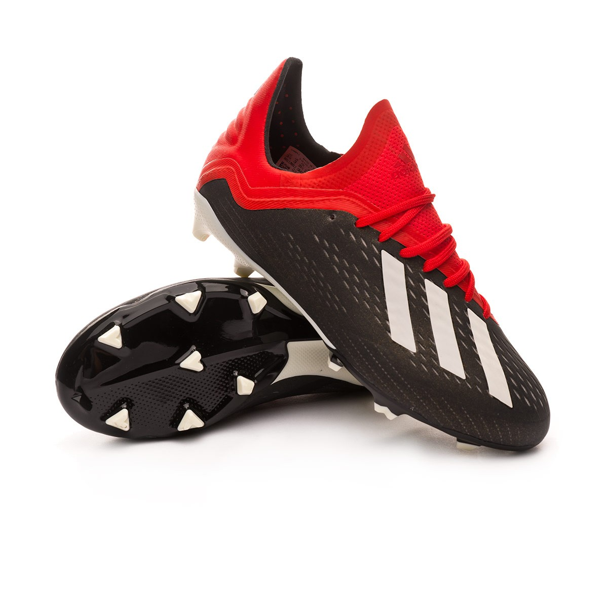 8113ea69adff adidas Kids X 18.1 FG Football Boots. Core black-White-Active red ...