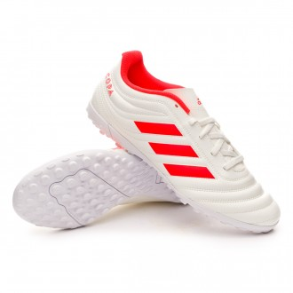 Football Boot  adidas Copa 19.4 Turf Off white-Solar red-Off white