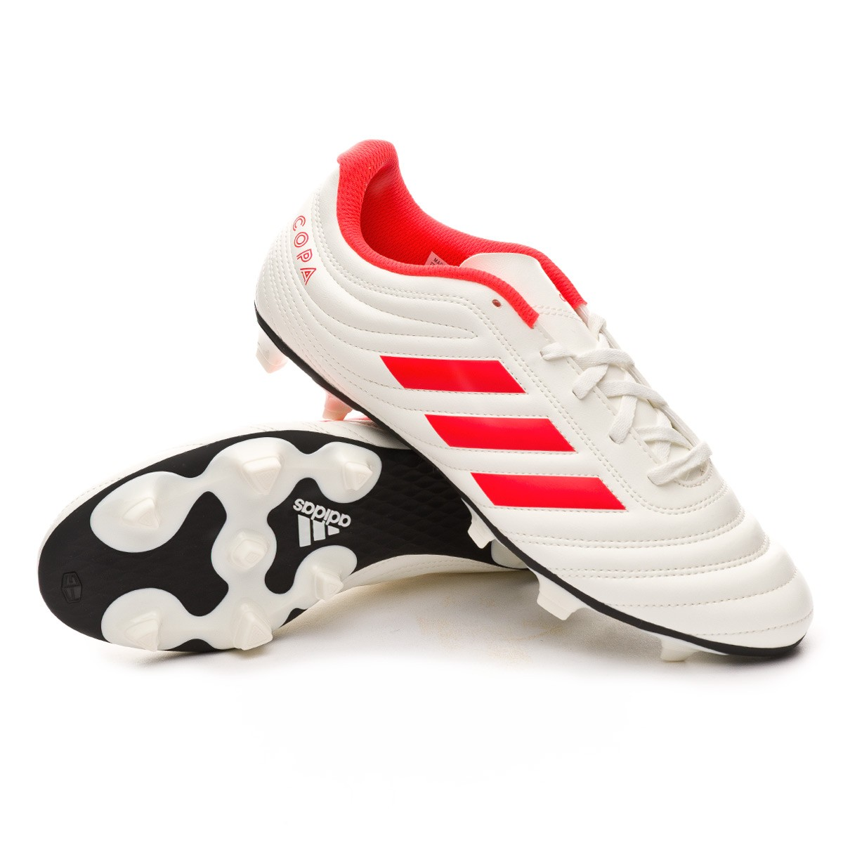 024ad3a16b4de Football Boots adidas Copa 19.4 FG Off white-Solar red-Off white - Football  store Fútbol Emotion
