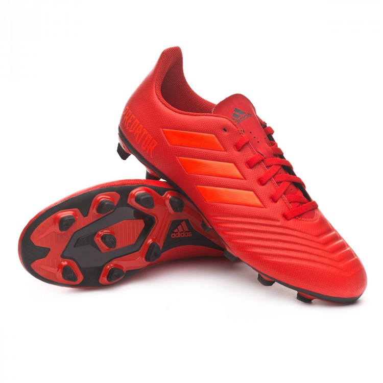 Zapatos de fútbol adidas Predator 19.4 FxG Active red-Solar red-Core ... 51f8bec672c61