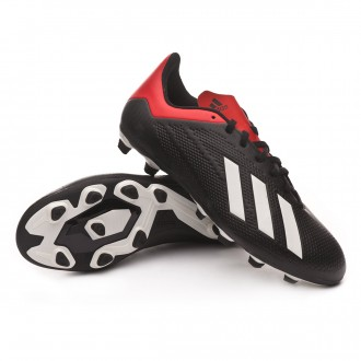 Boot  adidas X 18.4 FG Core black-Off white-Active red