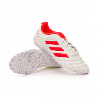 Futsal Boot  adidas Kids Copa 19.4 IN Off white-Solar red-White