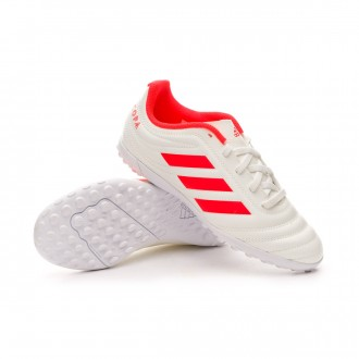 Football Boot  adidas Kids Copa 19.4 Turf  Off white-Solar red-White