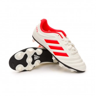 Scarpe   adidas Copa 19.4 FG Junior Off white-Solar red-Off white