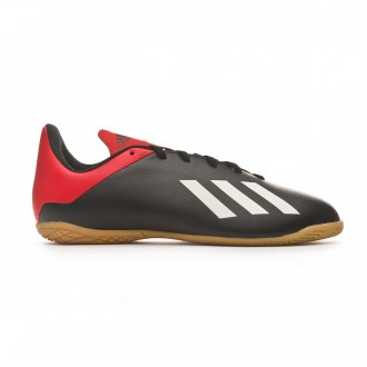 Zapatilla adidas X Tango 18.4 IN Niño Core black-Off white-Active red