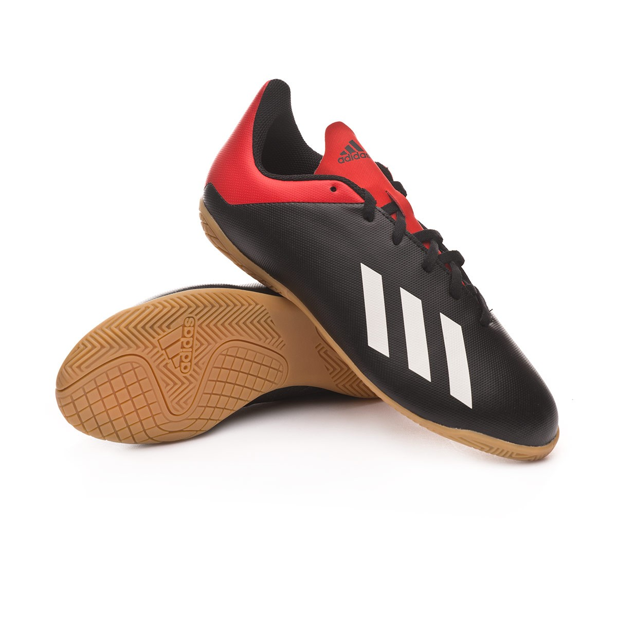 df457c141 Futsal Boot adidas Kids X Tango 18.4 IN Core black-Off white-Active red -  Football store Fútbol Emotion