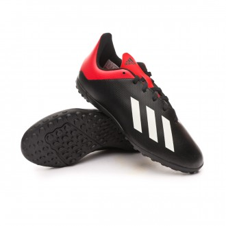 Zapatilla  adidas X Tango 18.4 Turf Niño Core black-Off white-Active red