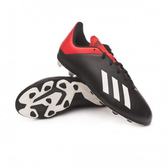 Boot  adidas Kids X 18.4 FxG  Core black-Off white-Active red