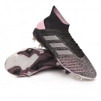 Chaussure de foot  adidas Predator 19.1 FG Mujer Core black-Silver metallic-Solid grey