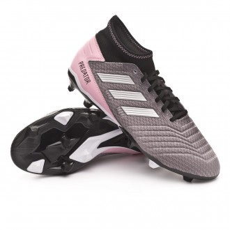 Bota  adidas Predator 19.3 FG Mujer Grey three-Silver metallic-Core black