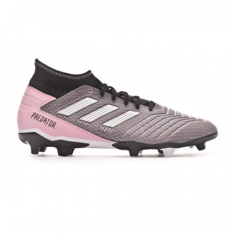 Football Boots adidas Predator 19.3 FG Mujer Grey three-Silver metallic-Core black