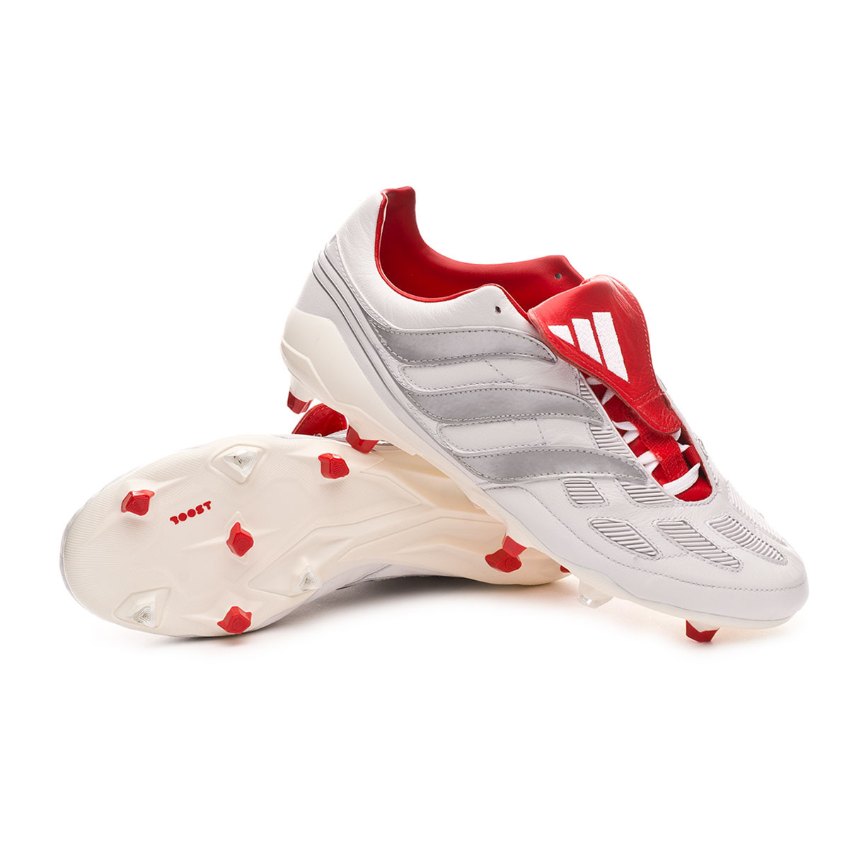 ciervo Hollywood envidia  Football Boots adidas Predator Precision FG DB White-Silver metallic- Predator Red - Football store Fútbol Emotion