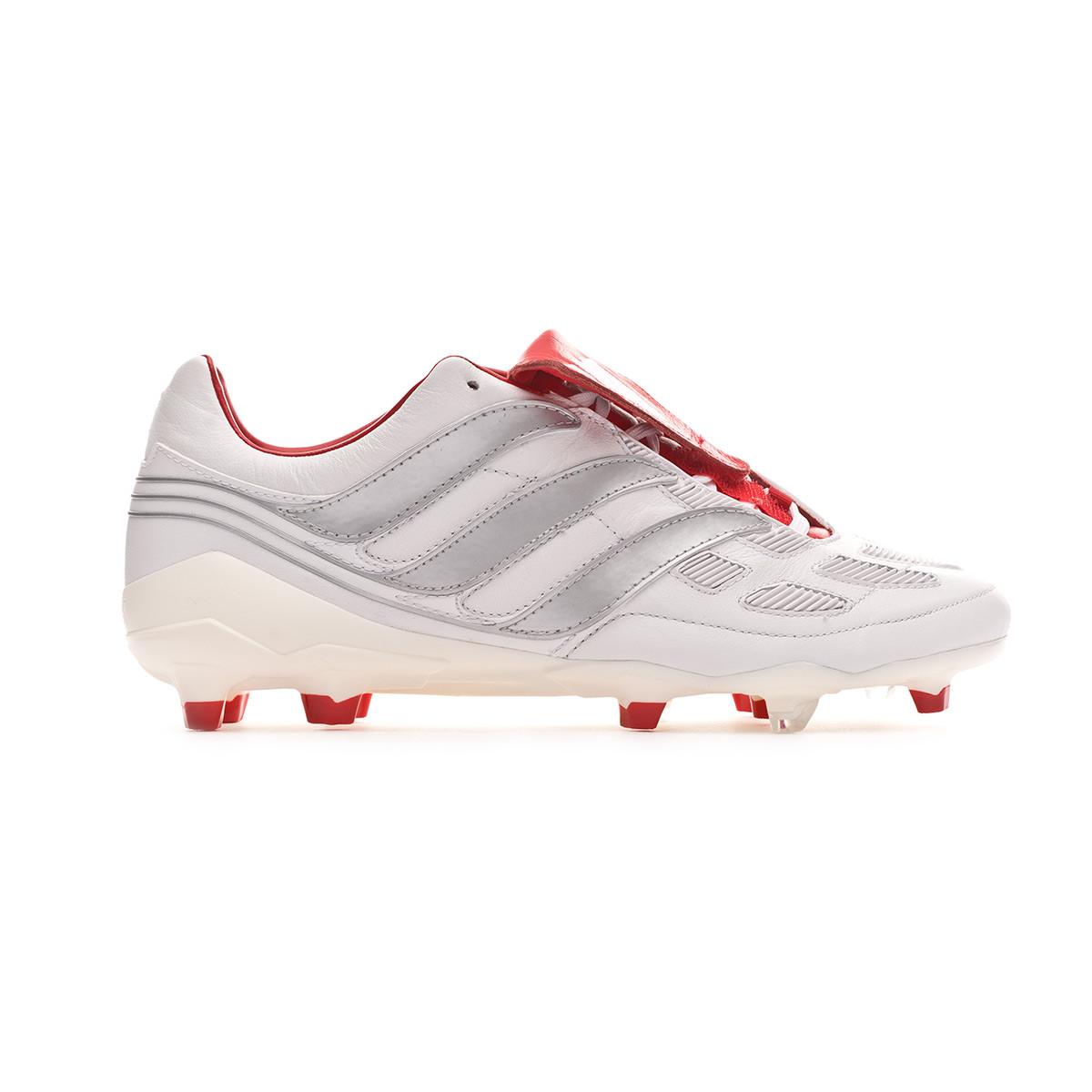 78ac7a7fb7a Football Boots adidas Predator Precision FG DB White-Silver metallic- Predator Red - Tienda de fútbol Fútbol Emotion