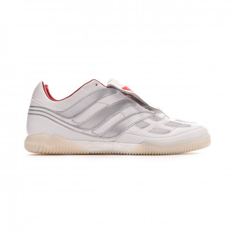 Chaussure de futsal  adidas Predator Precision TR DB White-Silver metallic-Predator Red