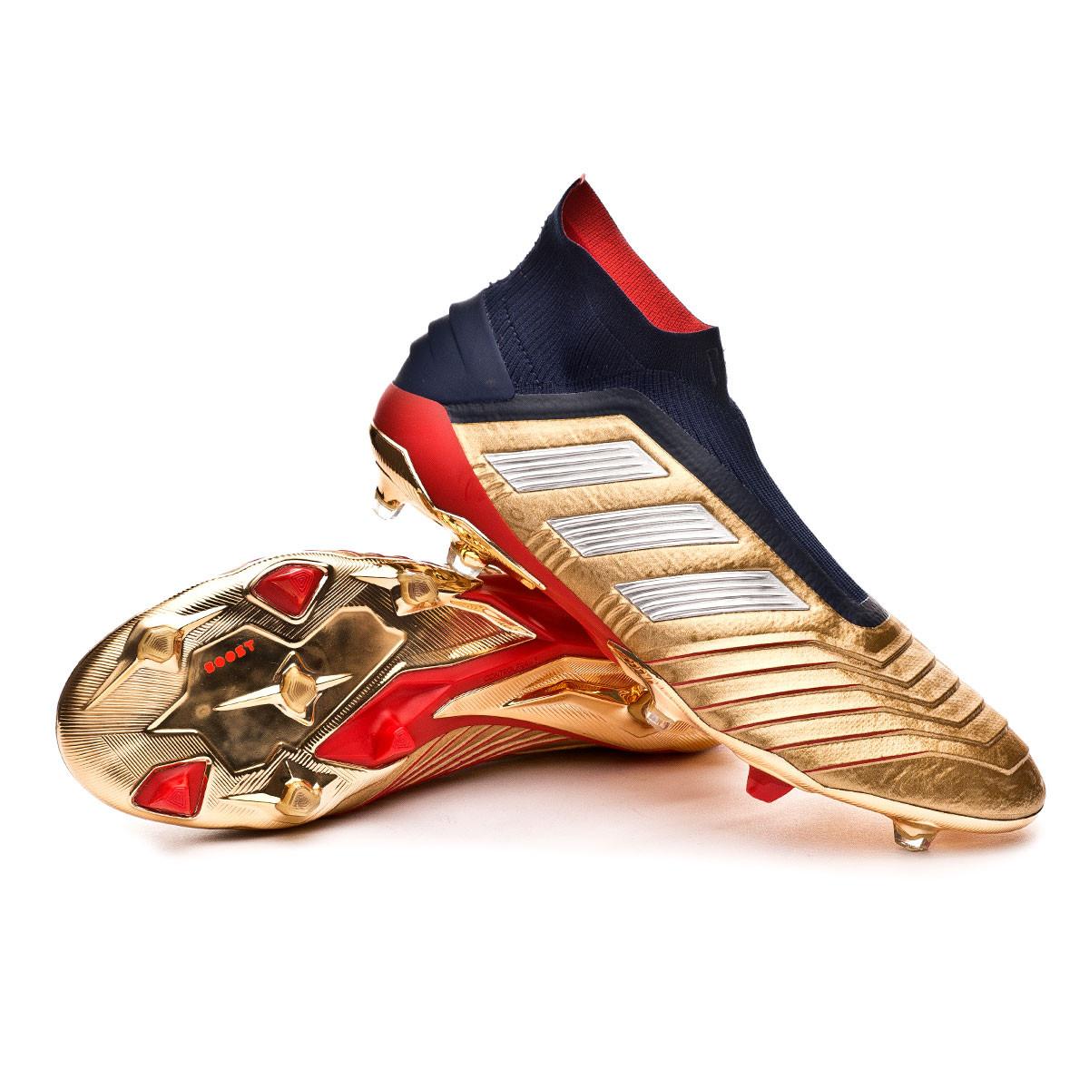 1d4b948585f Football Boots adidas Predator 19+ FG ZZ Gold metallic-Core Black ...