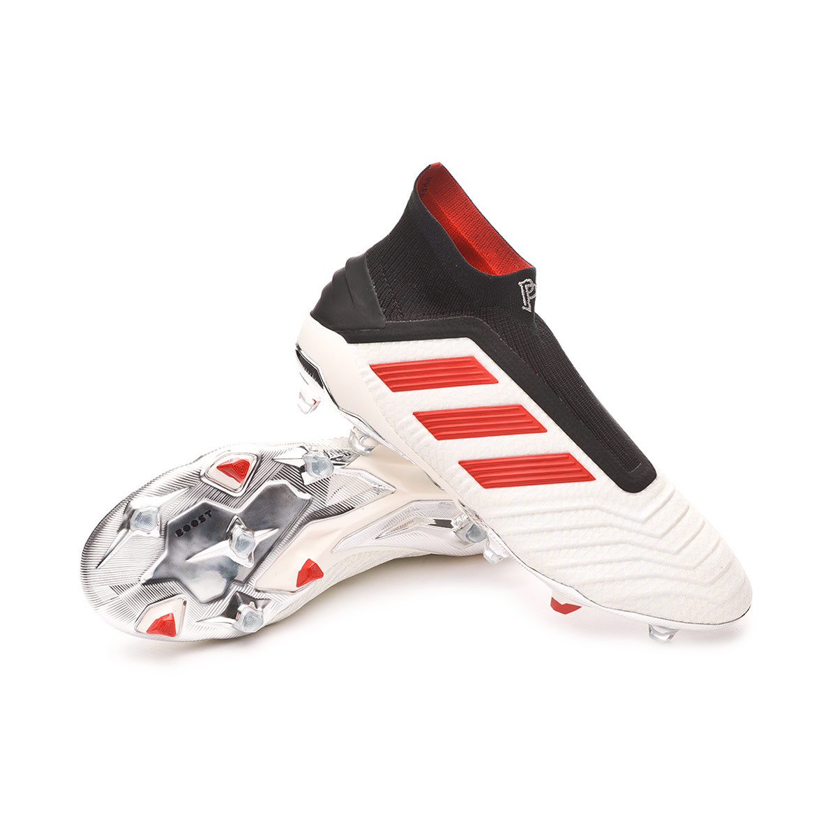 4d4c94402092 Football Boots adidas Predator 19+ FG Paul Pogba White-Red-Core Black -  Football store Fútbol Emotion