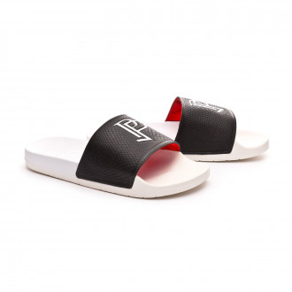 Chinelos  adidas Adilette Paul Pogba Off White-Red-Core Black
