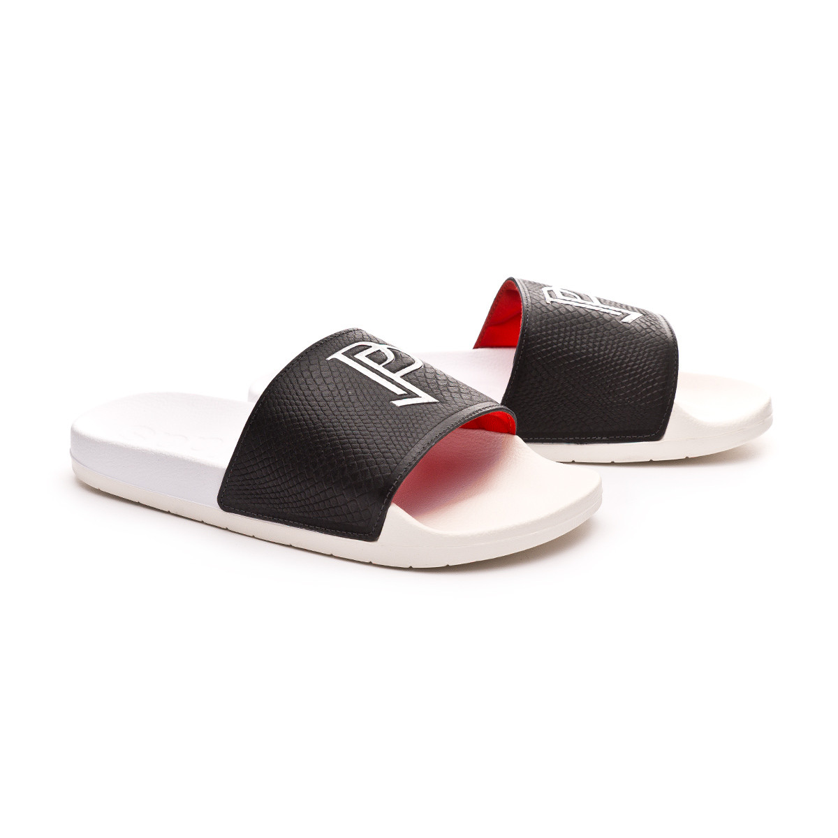 Off White Paul Red Black Chanclas Adilette Pogba Core kPXwOZuTli