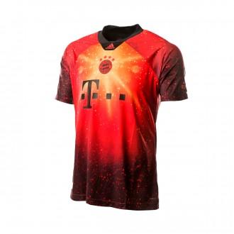 Camiseta  adidas FC Bayern EA 2018-2019 Multicolor-Black