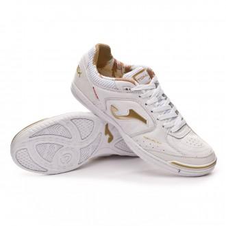 Futsal Boot  Joma Top Flex White-Gold