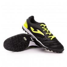 Football Boot Liga 5 Turf Black-Lime