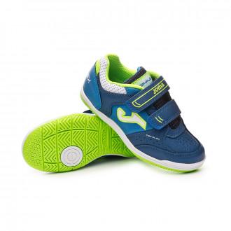 Chaussure de futsal  Joma Top Flex Niño Velcro Navy-Turquoise