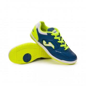 Futsal Boot  Joma Kids Top Flex  Navy-Lime