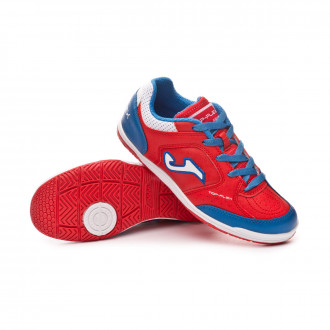 Sapatilha de Futsal  Joma Top Flex Niño Red-Turquoise