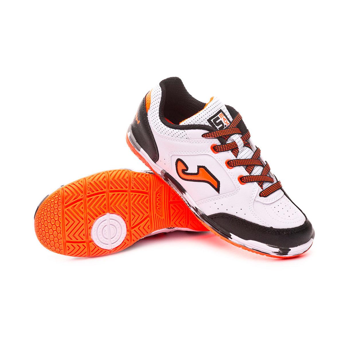 84e866ee9a Sapatilha de Futsal Joma Sala Max Niño White-Orange - Loja de futebol  Fútbol Emotion
