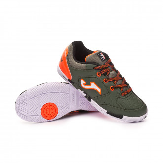Chaussure de futsal  Joma Sala Max Niño Army-Orange