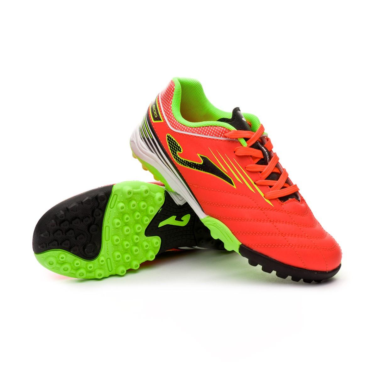 cdb6a8f64 Football Boot Joma Kids Toledo Turf Orange-Lime - Football store Fútbol  Emotion
