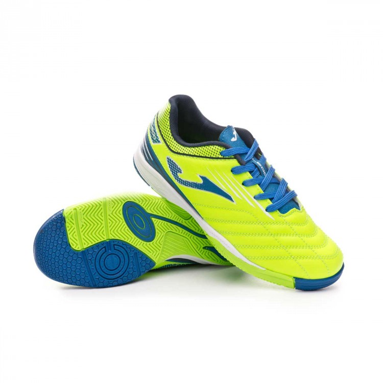 933544df6 Futsal Boot Joma Toledo Niño Lime-Blue - Football store Fútbol Emotion
