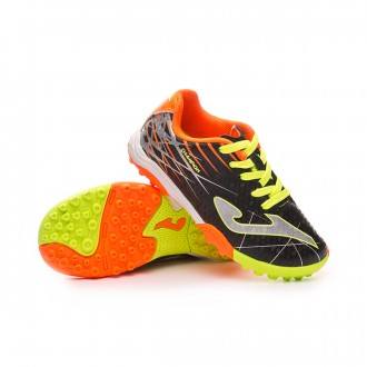 Chaussure de football  Joma Champion Turf Niño Black-Lime-Orange
