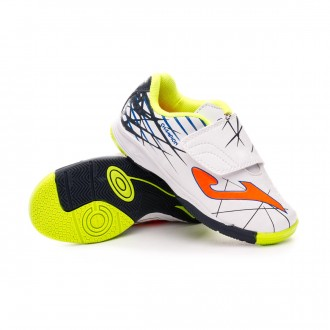 Chaussure de futsal  Joma Champion Niño Velcro White-Orange