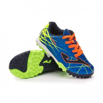 Zapatilla  Joma Champion Turf Niño Blue-Orange