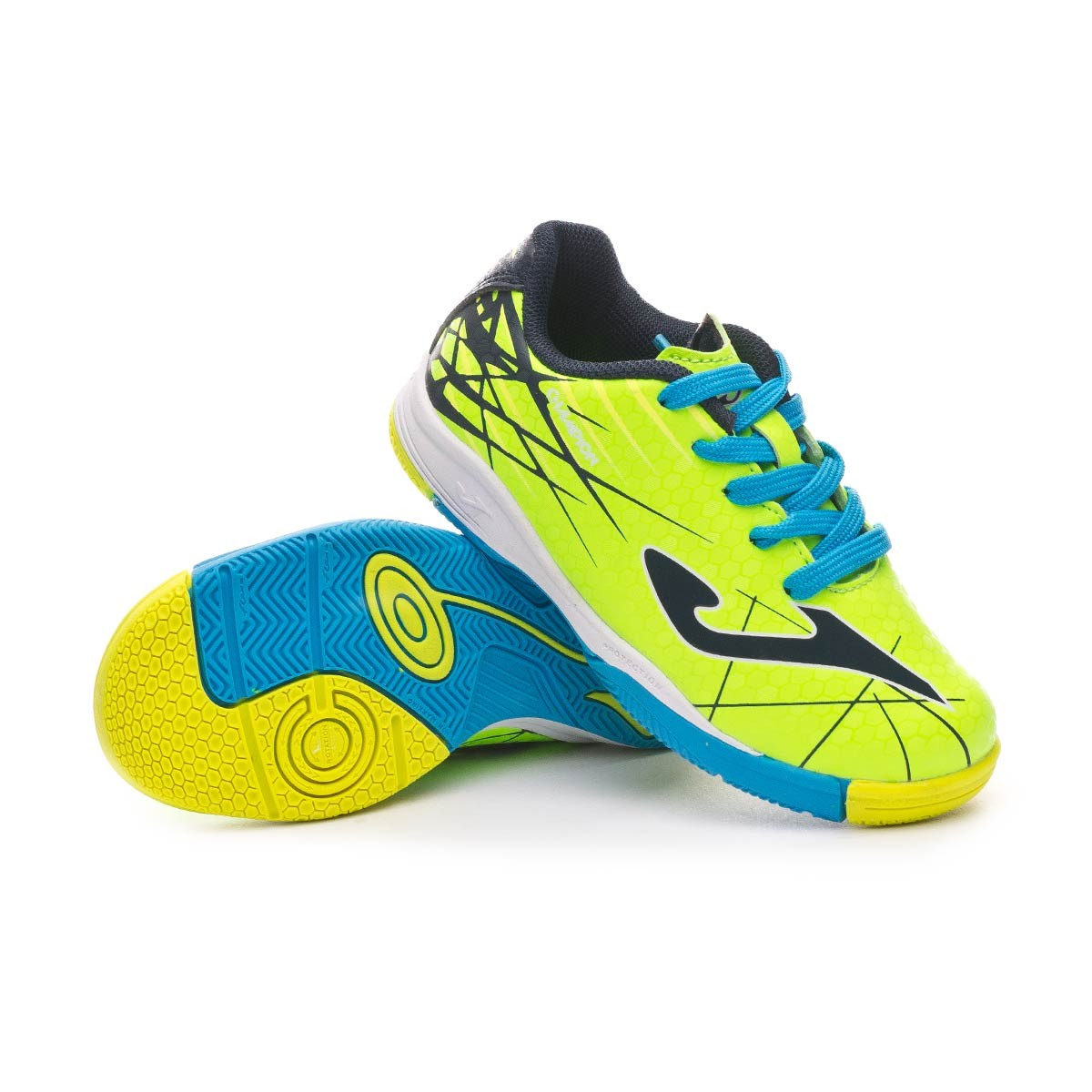 cfd44d093 Futsal Boot Joma Champion Niño Lime-Turquoise - Football store Fútbol  Emotion