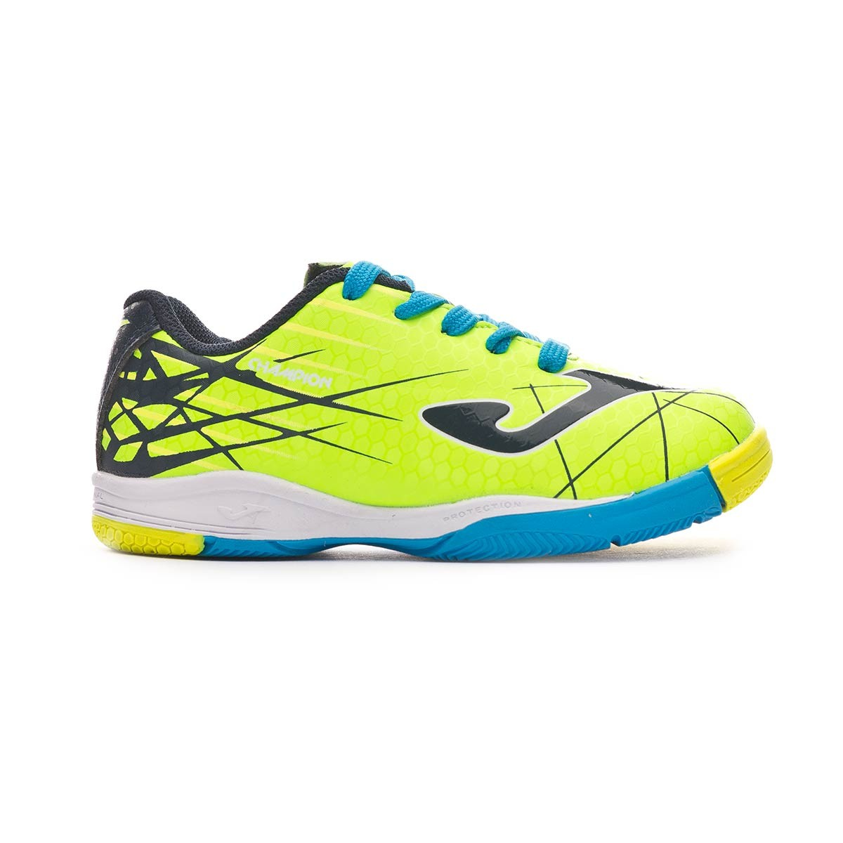 cfd44d093 Futsal Boot Joma Champion Niño Lime-Turquoise - Football store Fútbol  Emotion