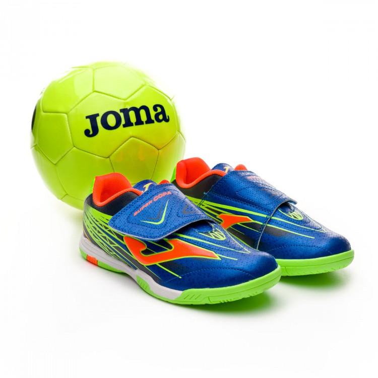 65e88e4ac570d Zapatilla Joma Supercopa Niño + Balón Regalo Blue-Orange - Tienda de ...
