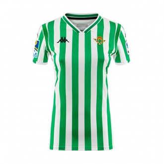 Camiseta  Kappa Real Betis Balompié Primera Equipación 2018-2019 Mujer White-Green-No sponsor